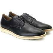 Clarks Gambeson Walk Navy Leather lace up For Men(Black)