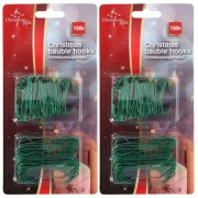 Merkloos 450x Groene kerstbalhaakjes/kerstboomhaakjes 6,3 cm