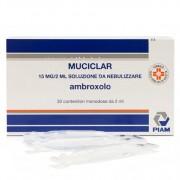 Piam Farmaceutici Spa Muciclar 15 Mg/ 2 Ml Soluzione Da Nebulizzare 30 Contenitori Monodose Da 2 Ml
