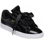 Puma Basket Heart Patent Wn's Sneakers For Women(Black)