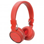 AV: Link Wireless Bluetooth On-Ear Noise Cancelling Headphones (With Built-in FM Radio) - Red