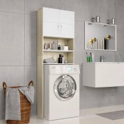 vidaXL Armário máq. lavar roupa 64x25,5x190cm branco e carvalho sonoma