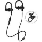 EvershopHeadphones Wireless In-Ear Earbuds Sweatproof Sports (Secure Ear Hooks Design Bluetooth 4.1 aptX Stereo Pure Sound 8 Hours Play Time)-Black