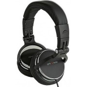 MHP-YUL-BK * DJ Stereo headphones with volume control, foldable design, black color, 6.35mm + adapt