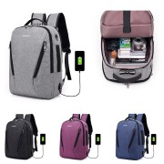 17L Anti-theft Men Women Laptop Notebook Backpack USB Charging Port Lock Travel School Bag