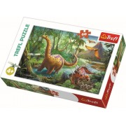 Puzzle copii Trefl 60 piese - Migratia dinozaurilor