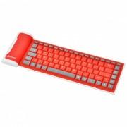180mAh Bluetooth v3.0 Silicona Teclado suave de 85 teclas para Ipad 1/2/3/4 - Rojo