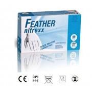 Reflexx Guanti In Nitrile Monouso Taglia Xl Blu Feather Nitrexx Confezione 100 Pz