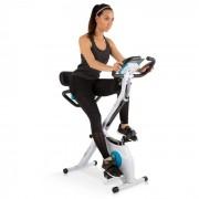 KLARFIT Azura Plus Vélo d'appartement cardio training max. 100kg - acier blanc