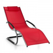 Sunwave tuinstoel ligstoel schommelstoel Relax aluminium rood