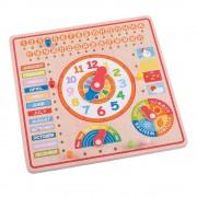 Bigjigs Toys Educational Wooden Calendar and Clock