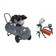 Pachet compresor de aer Stager HM3100V 3CP, 100L, 8BAR cu kit 4 accesorii compresor