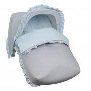 Saco Porta bebé Dots Celeste (capota no incluida)