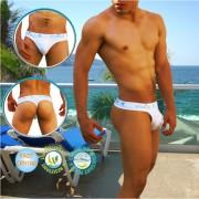 Icker Sea Sailor Belt Loop Tanga Thong Swimwear White COB-14-MT03