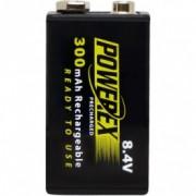 Maha Powerex 300mAh, acumulator Ni-Mh ready to use, tip 9V, blister 1