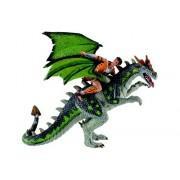 Figurina Bullyland Luptator pe dragon cu pete verzi