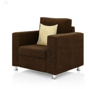 furniture4U - Fully Upholstered Single-Seater Sofa - Premium Valencia Brown