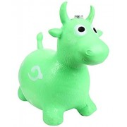 Tickles Green Jumping Bull (Inflatable Space Hopper, Jumping Bull, Ride-on Bouncy Animal) Stuffed Soft Plush Toy Love Girl 57 cm