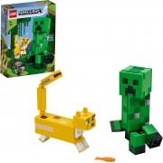 Lego Konstruktionsspielsteine »BigFig Creeper™ und Ozelot (21156), Minecraft™«, (184 St)