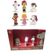 Peanuts Schleich Peanuts Set of 8 Snoopy Walking Franklin Peppermint Patty Fifi Sally and a Schleich Boxed Sibling Set of Belle Olaf and Spike Quality Toys Packaged and Ready to Give