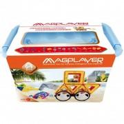 Joc de constructie magnetic 64 piese Magplayer