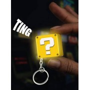 Paladone Super Mario - Question Block Light-Up Keychain with Sound