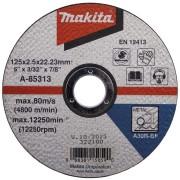 Disc abraziv pentru taiere metal MAKITA A-85313, 125mm