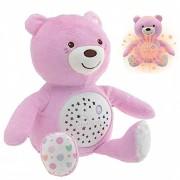 Chicco - Proyector Baby Bear Peluche Extrasuave Con Efectos De Luz Y Melodías Co