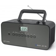 Micro Sistem Audio Portabil Muse M-22 BT, Bluetooth, CD-Player, Radio, AUX-in (Negru)