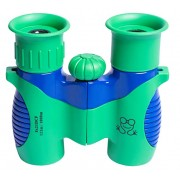 Golden Frog Shock Proof Binoculars for Kids - 8X Magnification with Compass and Whistle