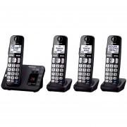 Teléfono Inalámbrico De 4 Unidades Panasonic Kx-Tge43-Negro
