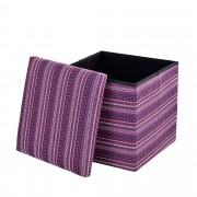 [en.casa]® Skládací taburet - textil - vzor 3 - 38 x 38 x 38 cm