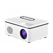 JEDX S316 Mini LED Handheld Projector Home Theater Projector Support 1080P - White/UK Plug