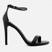Steve Madden Women's Stecy Barely There Heeled Sandals - Black - UK 8 - Black