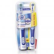Set 2 periute de dinti electrice Trisa Pro Clean Professional Duo, 8000 vibratii/min