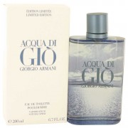 Giorgio Armani Acqua Di Gio Blue Edition Eau De Toilette Spray Limited Edition 6.7 oz / 198.14 mL Men's Fragrance 529584