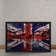 Quadro Decorativo Bandeira da Inglaterra Desconstruida 25x35