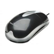 Mouse óptico Manhattan USB 177016 negro/plata