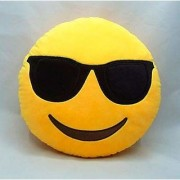 Krishan Enterprises Toys cool dude smiley pillow yellow-30 cm