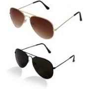 Ivonne Butterfly Sunglasses(Black, Brown)