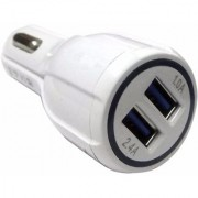 Lionix 2.4 Fast Adaptive Car Charger (With Micro USB V8 Data Sync And Charging Cable For Android Phones)