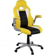 OEM M39188 Kancelárska stolička GT Stripes Series žltá/čierna/biela
