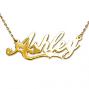 Personalized Men's Jewelry Personalized 14K Gold Coca-Cola Font Name Necklace 101-01-091-01