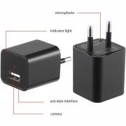 EB 16GB HD 1080P Mini USB Adaptador De Corriente Alterna Cargador Cámara Ocultada Cámara DVR-negro