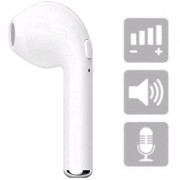 Bluetooth Headphone Calling Function Single Stereo i7 Earbud Earphone with Mic Compatible with all Device