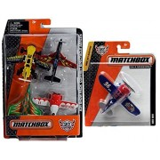 Matchbox Sky Busters 4-Pack Air Show Pack with Gee Bee (Blue) Sky Busters Plane Bundle