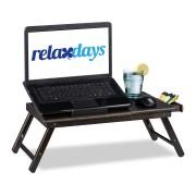 Relaxdays Laptoptafel bed / bank - Bamboe - 24 x 60 x 35 cm - Donkerbruin