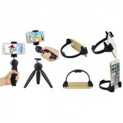 Combo of Tripod 228 and Ok Stand For Mobile Phones and Smartphones (Assorted Colors)