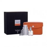 The Different Company Travel Set Orange set cadou flacon reincarcabil 10 ml + suport pentru flacon reincarcabil 1 buc + palnie 1 buc + cutie din piele