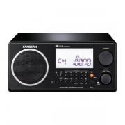 Digitális szintézeres, fa dobozos asztali rádió, FMAM, fekete, WR-2 B